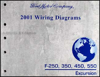 2001 Ford F-250 350 450 550 Excursion Wiring Diagram Manual Original