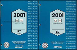 2001 Chevy/GMC B7 Bus Chassis Repair Manual Original 2 Volume Set