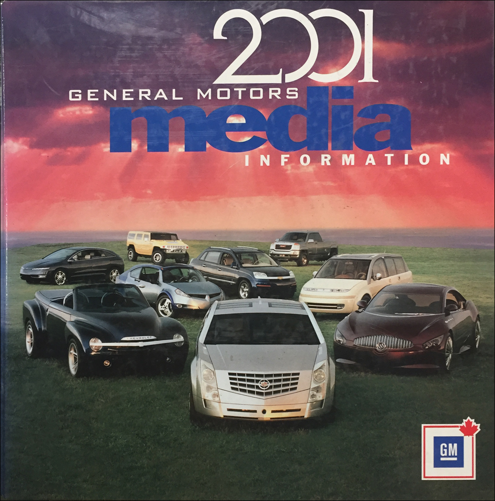 2001 GM Press Kit Original Canadian