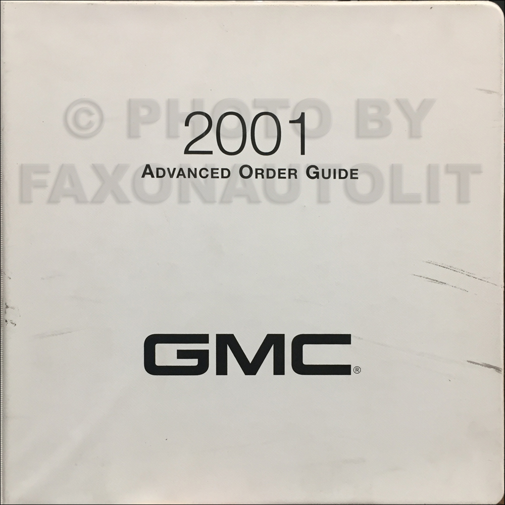 2001 GMC Advance Light Duty Color & Upholstery Dealer Album/Data Book Original