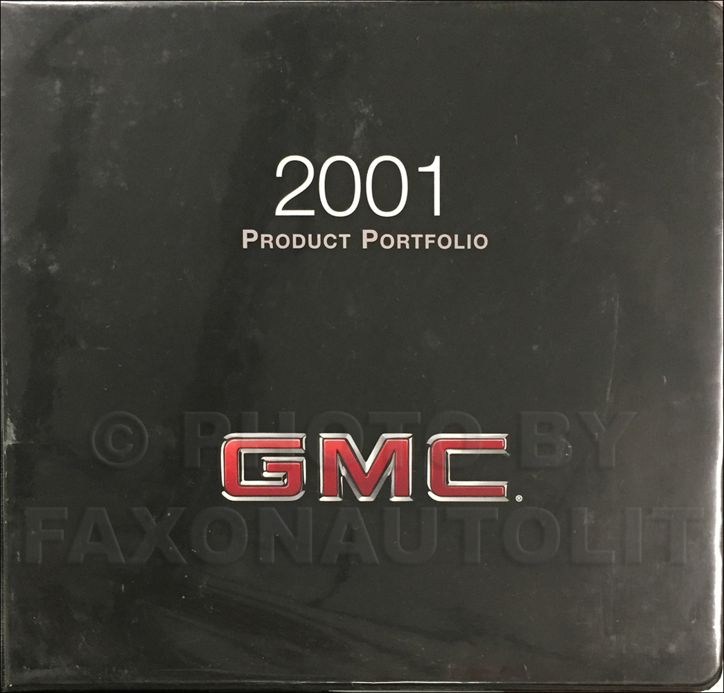 2001 GMC Color & Upholstery Dealer Album/Data Book Original