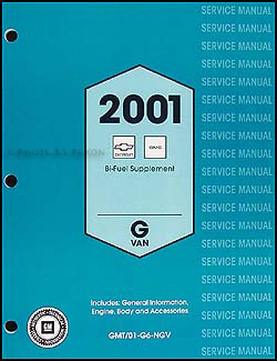 2001 Express/Savana Bi-Fuel Shop Manual Original Supplement