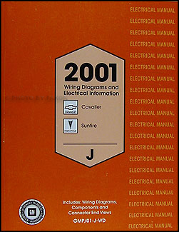 2001 Cavalier & Sunfire Wiring Diagram Original