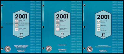 2001 S-10 Sonoma Jimmy Envoy Blazer Bravada Xtreme Repair Shop Manual Set