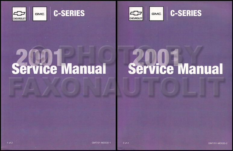 2001 Topkick & Kodiak C-6000/7000 Repair Manual Original 2 Volume Set