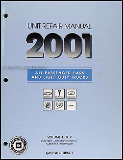 2001 GM Automatic Transmission Overhaul Manual Original
