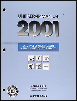 2001 GM Manual stick Transmission & 4x4 Transfer Case Overhaul Manual