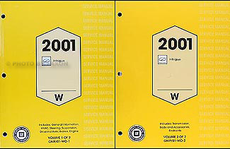 2001 Oldsmobile Intrigue Repair Manual Original 2 Volume Set