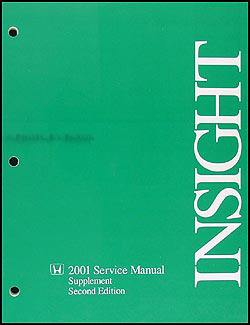 2001 Honda Insight Hybrid Repair Manual Original Supplement