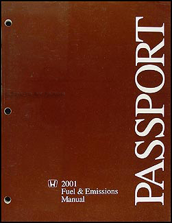 2001 Honda Passport Fuel & Emissions Repair Manual Original