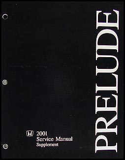 2001 Honda Prelude Repair Manual Original Supplement