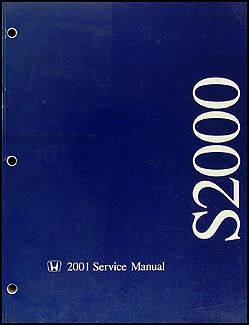 2001 Honda S2000 Repair Manual Original