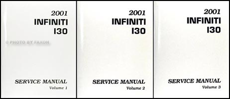 2001 Infiniti I30 Repair Manual Original
