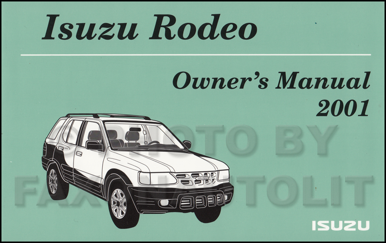 2001 isuzu rodeo rodeo sport repair shop manual 4 volume set rh faxonautoliterature com