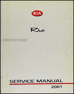 2002 Kia Rio Repair Manual Original