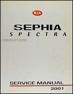 2001 Kia Sephia Spectra Repair Manual Original
