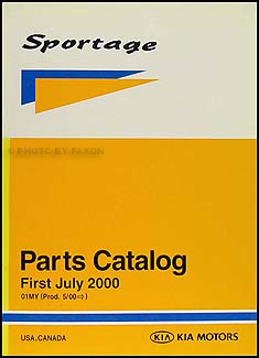 2001 Kia Sportage Parts Book Original