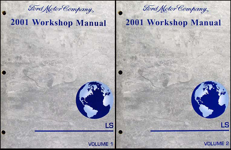 2001 Lincoln LS Shop Manual 2 Volume Set Original