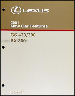 2001 Lexus GS 300 & GS 430 Wiring Diagram Manual