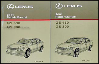 2001 Lexus GS 300 and 430 Repair Manual Original 2 Volume Set