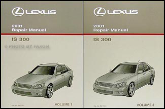 2001 Lexus IS 300 Repair Manual Original 2 Volume Set