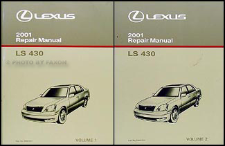 2001 Lexus LS 430 Repair Manual Original 2 Volume Set