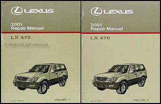 2001 Lexus LX 470 Repair Manual Original 2 Volume Set