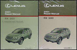 2001 Lexus RX 300 Repair Manual Original 2 Volume Set