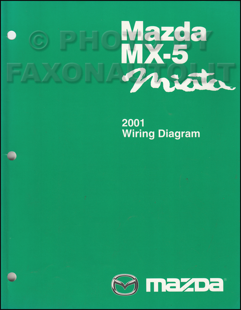 2001 Mazda MX-5 Miata Wiring Diagram Manual Original