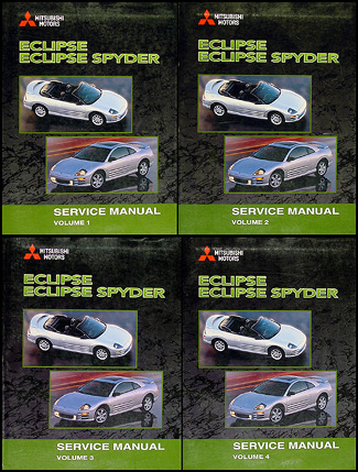 2001 Mitsubishi Eclipse and Eclipse Spyder Original Repair Manual Set
