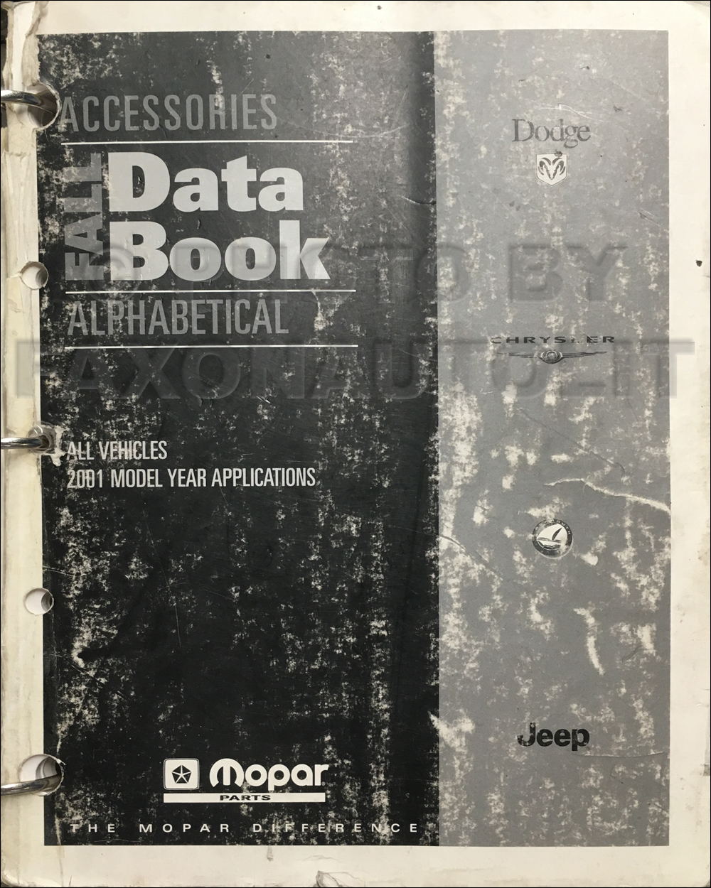 2001 MoPar Accessories Databook Original Fall
