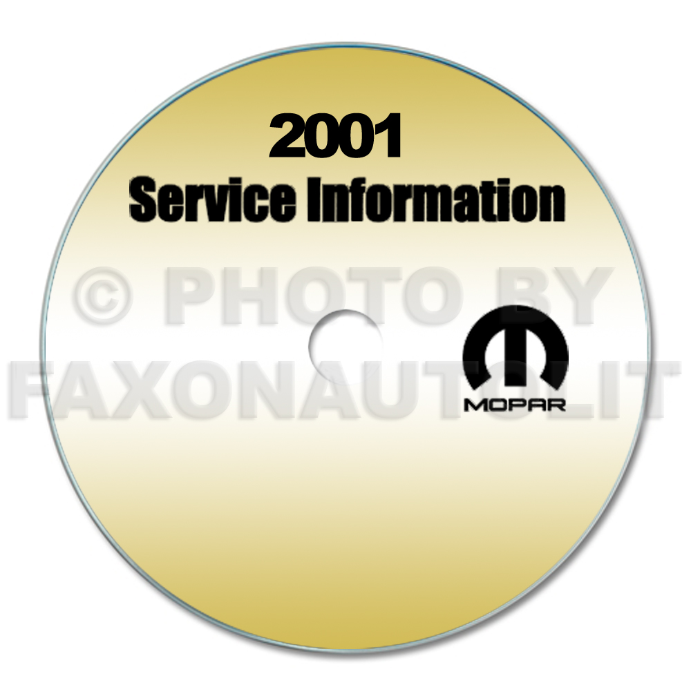 2001 Jeep Grand Cherokee Repair Shop Manual CD-ROM