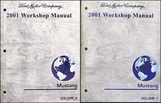2001 Ford Mustang Shop Manual Original 2 Volume Set