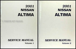 2001 Nissan Altima Repair Manual Set Original