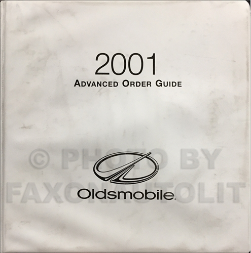 2001 Oldsmobile Advanced Ordering Guide Original