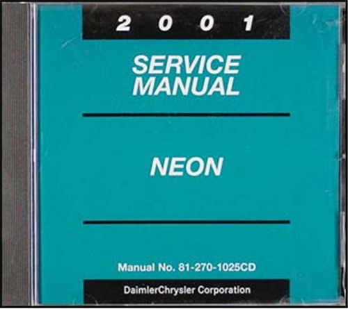 2001 Neon CD-ROM Shop Manual Original