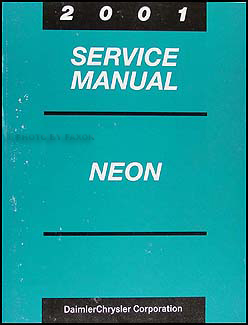 2001 Neon Shop Manual Original