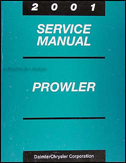 2001 Chrysler Prowler Shop Manual Original