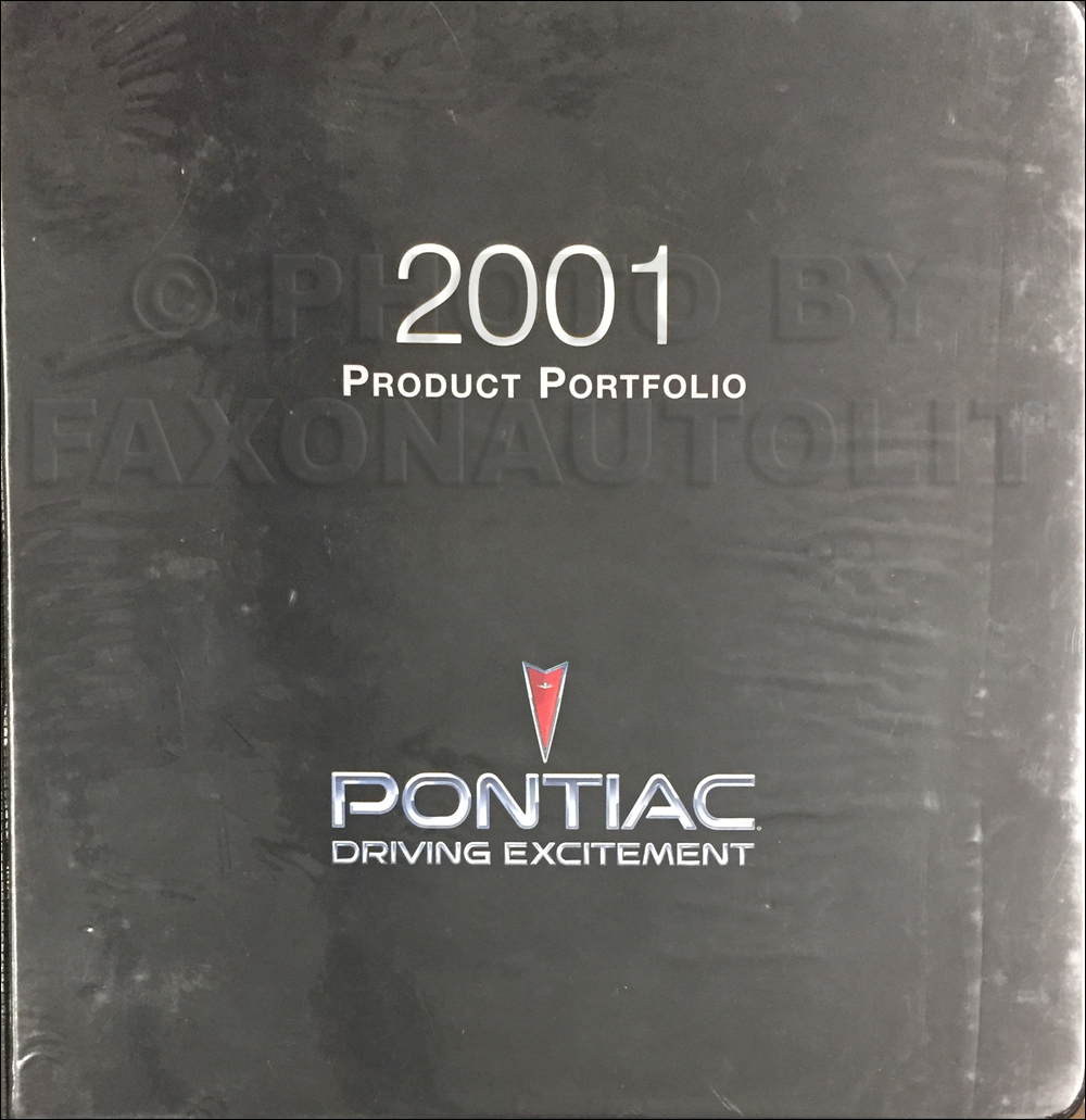 2001 Pontiac Color & Upholstery, Data Book Dealer Album Original