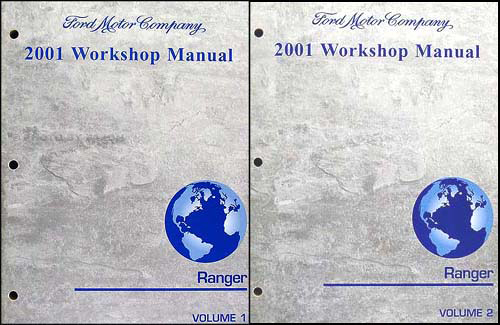 2001 Ford Ranger Repair Manual Original 2 Volume Set