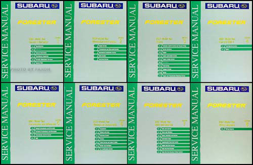 2001 Subaru Forester Repair Manual Original 8 Volume Set