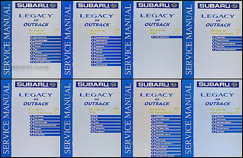 2001 Subaru Legacy & Outback Repair Manual Set Original