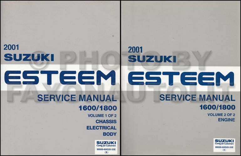 1999-2000 Suzuki Esteem Repair Manual Set Original