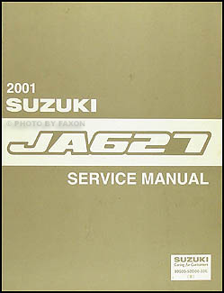 2001 Suzuki XL-7 JA627 Repair Manual Original