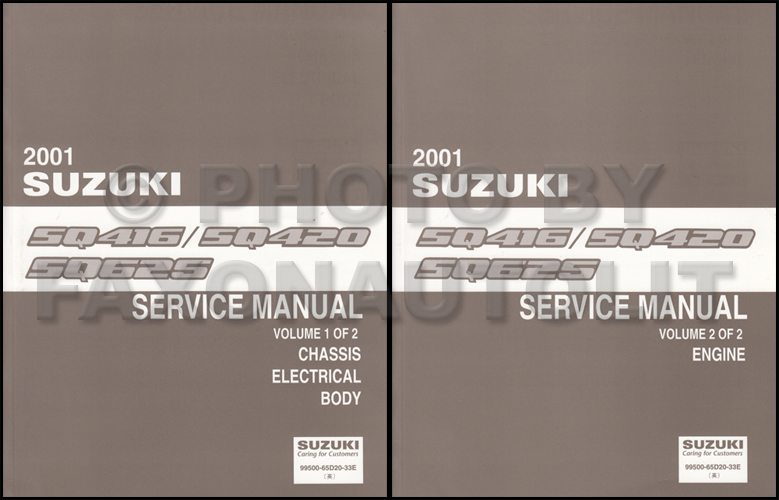 2000 Suzuki Vitara/Grand Vitara Repair Manual Set Original