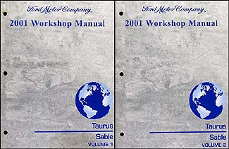 2001 Ford Taurus & Mercury Sable Shop Manual 2 Volume Set Original