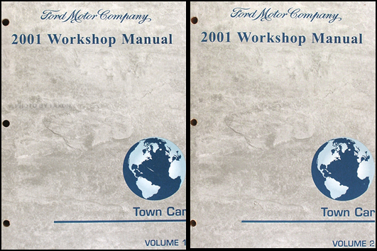 2001 Lincoln Town Car Shop Manual Original 2 Volume Set