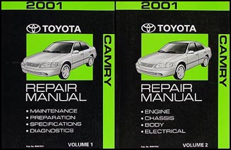 2001 Toyota Camry Repair Manual Set Original