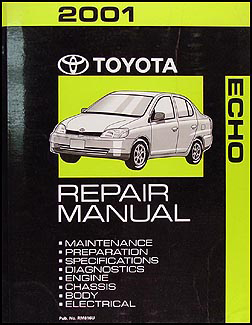 2001 Toyota Echo Repair Manual Original