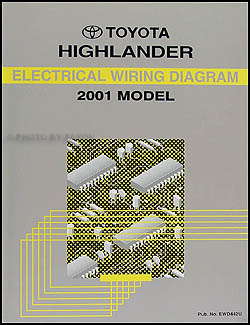2001 Toyota Highlander Wiring Diagram Manual Original